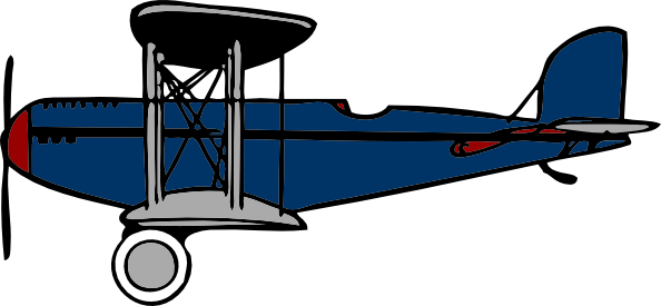 594x275 Red Blue Biplane Clip Art Free Vector 4vector