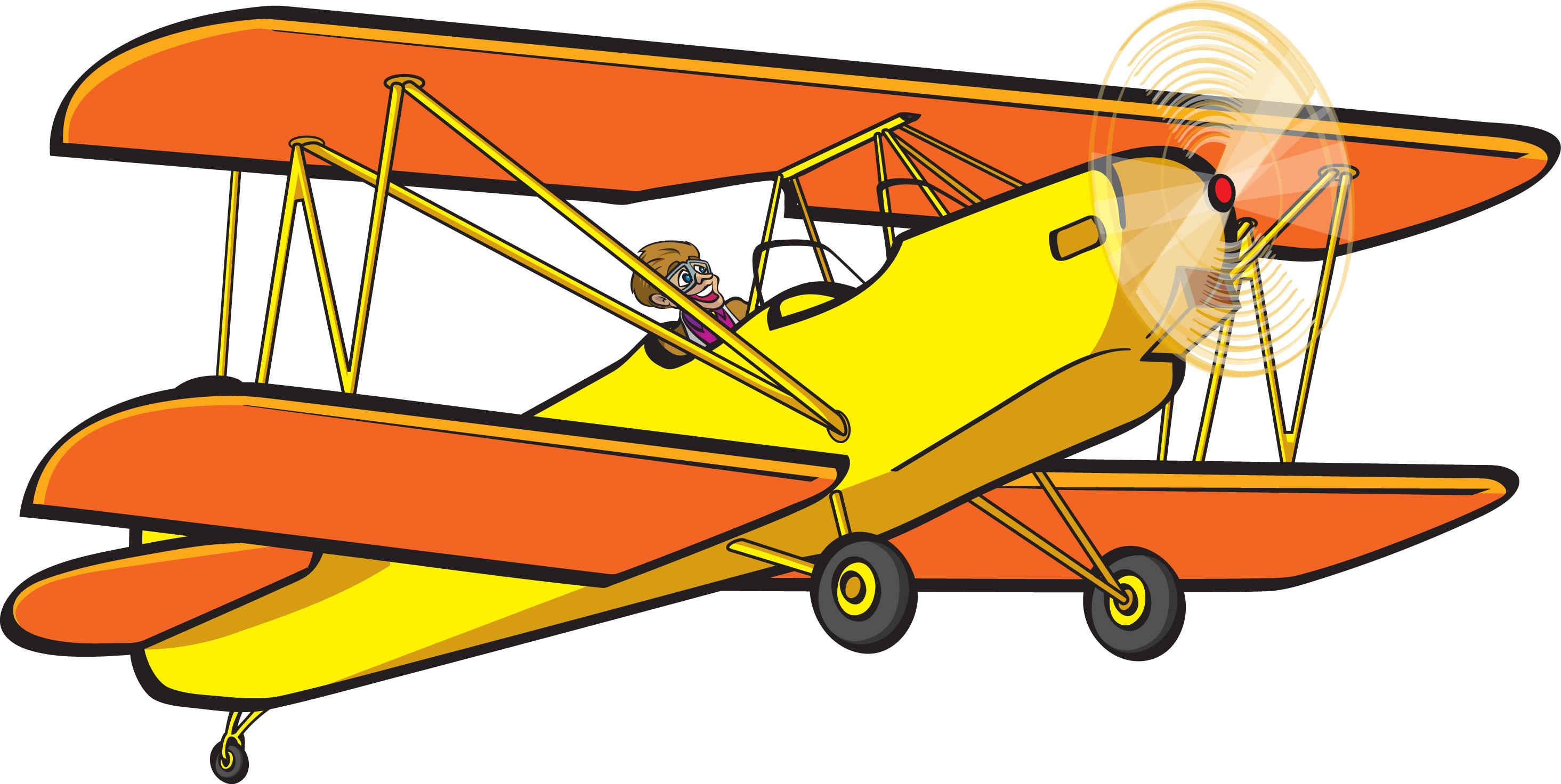 2929x1472 Biplane Clipart