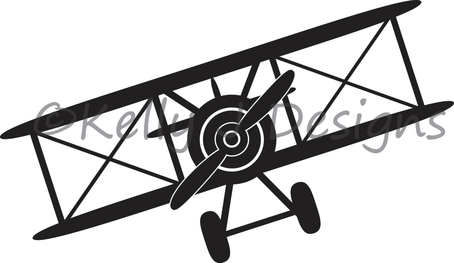 1500x870 Biplane Dxf Cutting File And Png Clipart File From Kjdpatterns