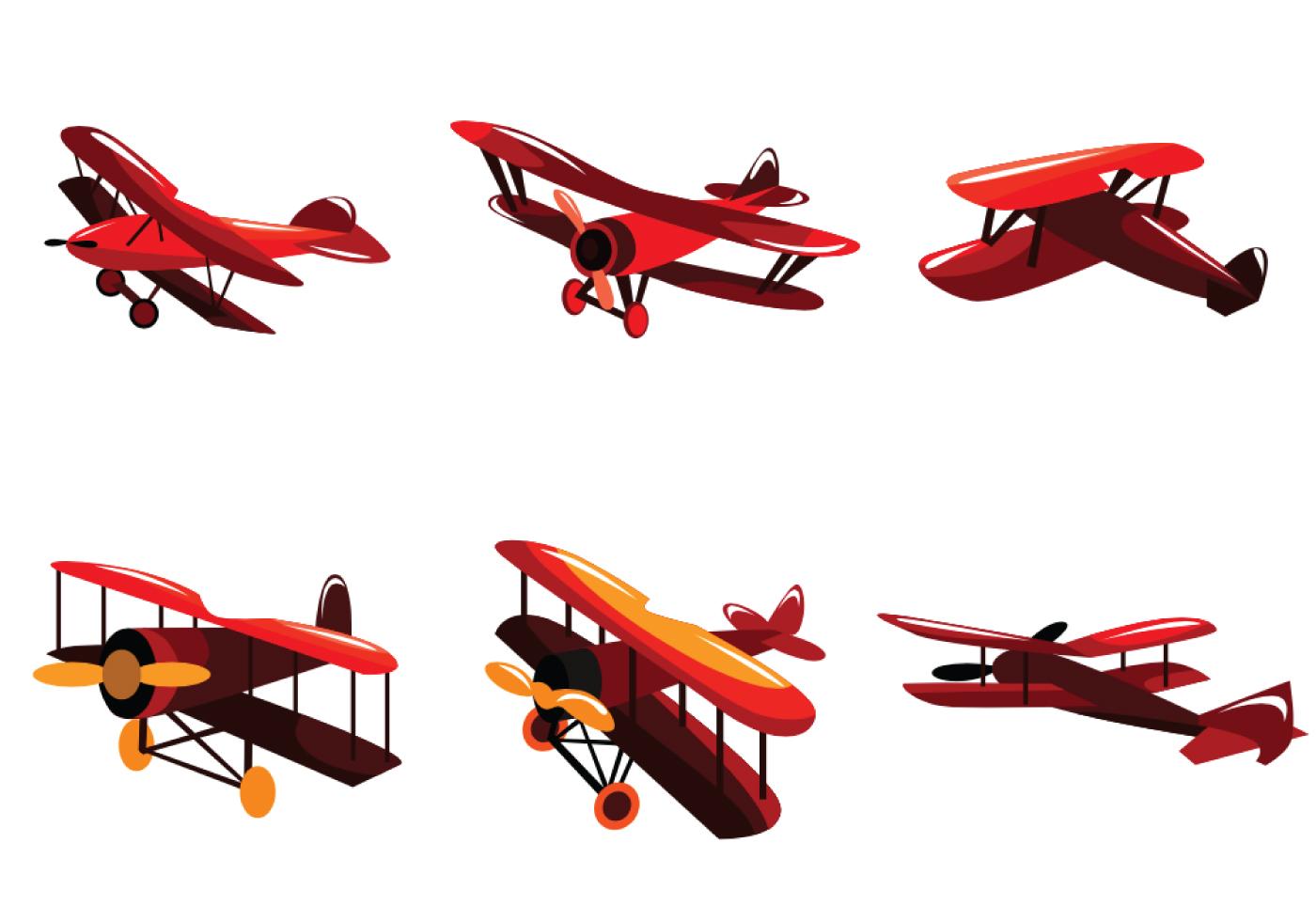 1400x980 Biplane Free Vector Art
