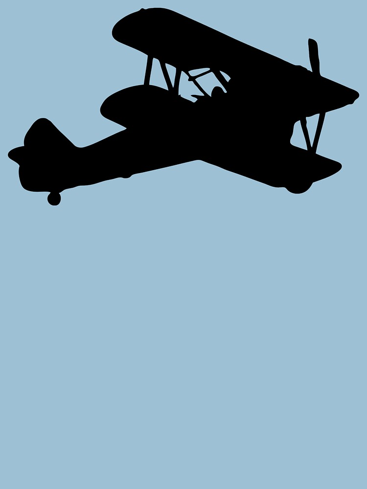 750x1000 Biplane Silhouette Womens T Shirt By Lucid Reality Redbubble
