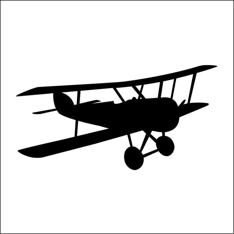 800x800 Sticker Avion Enfant 3 Aviation Silhouettes