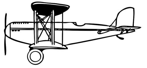 500x232 Vector Clip Art Of A Side View Of A Biplane Public Domain Vectors