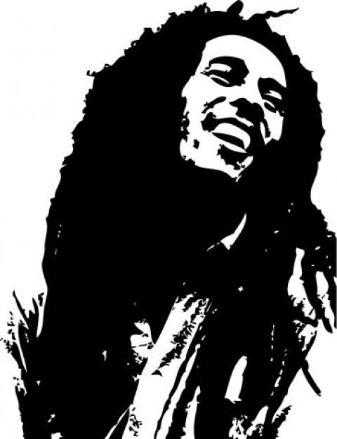 480x626 Bob Marley Silhouette Clipart