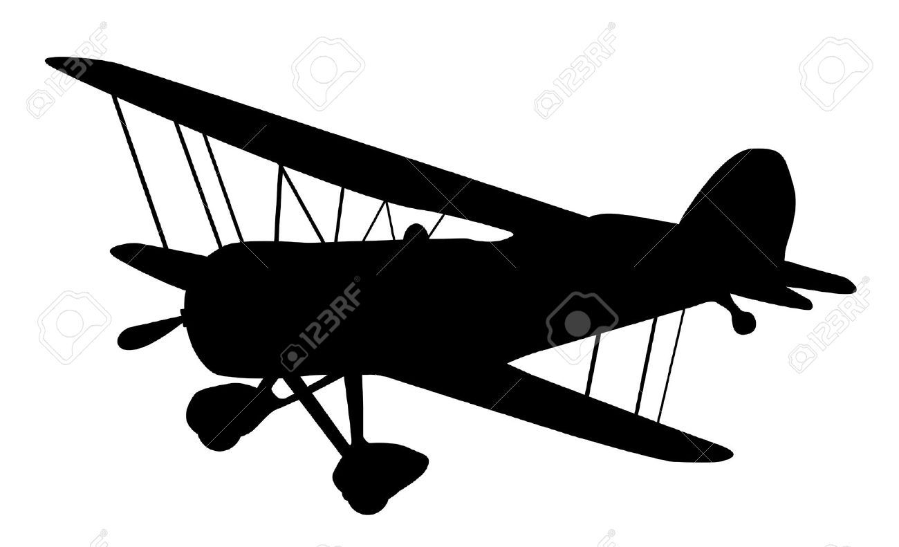 1300x791 Free Clipart Of Silhouette Of Small Airplanes