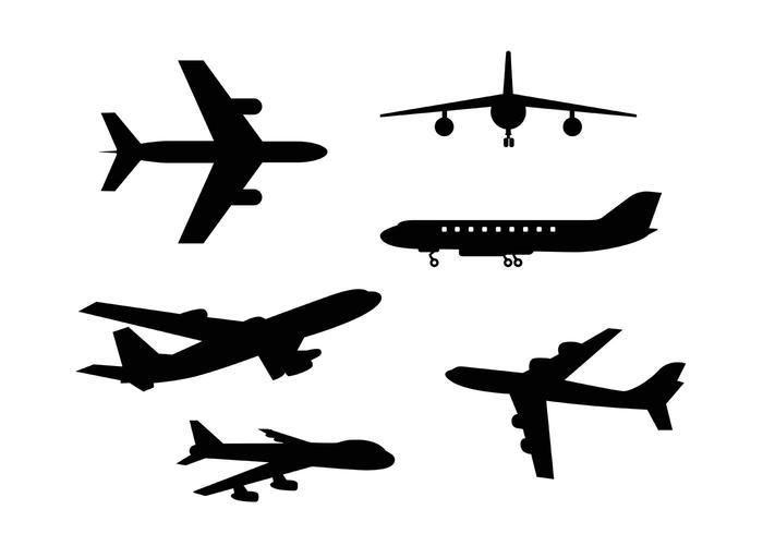 700x490 Free Vector Plane Icons
