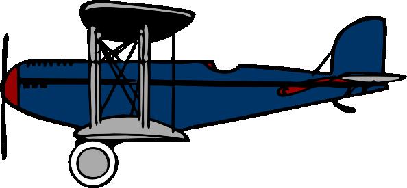 594x275 Red Blue Biplane Clip Art Free Vector 4vector