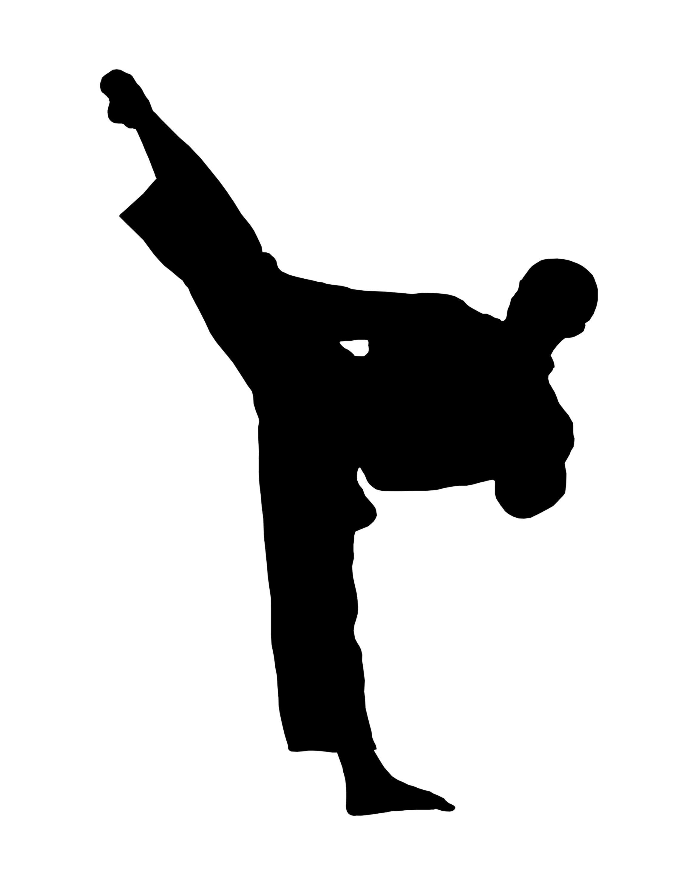 2340x2963 Taekwondo Silhouette Clipart