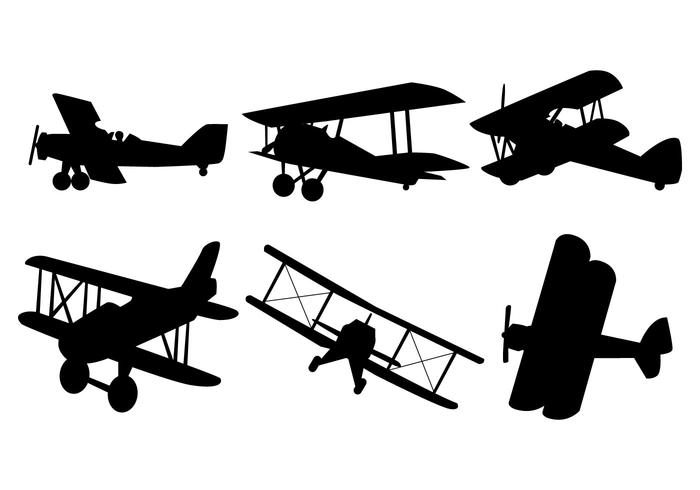 700x490 Biplane Free Vector Art