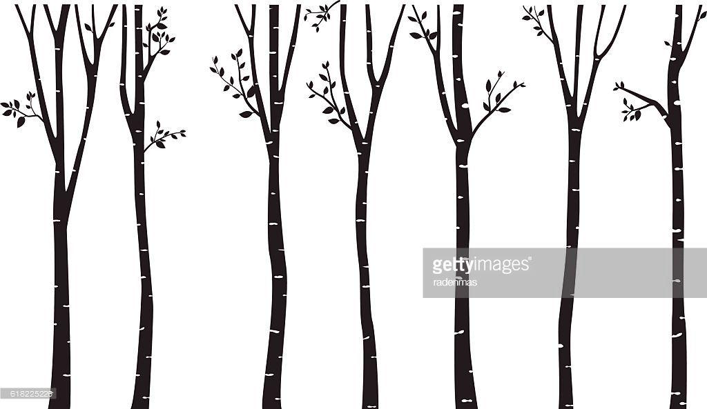 1024x593 Vector Art Birch Tree Silhouette Background Emery's Room