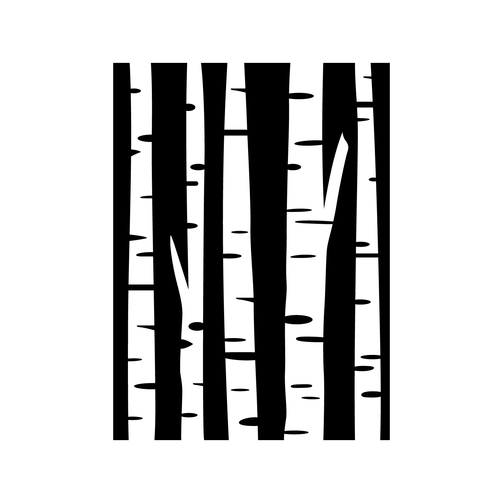 1600x1600 Birch Tree Stencil Birch, Stenciling And Crafts