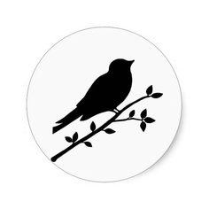 236x236 Love Birds Silhouette Wedding Address Lable Label Label Stickers