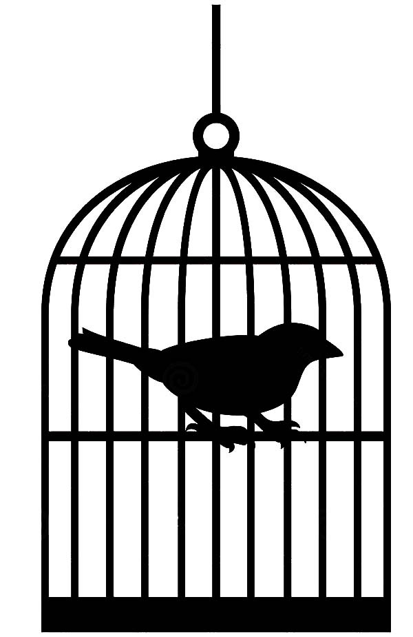600x924 Bird Gathering In One Big Bird Cage Coloring Pages Bird Gathering