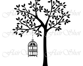 340x270 Bird Cage Clipart Etsy