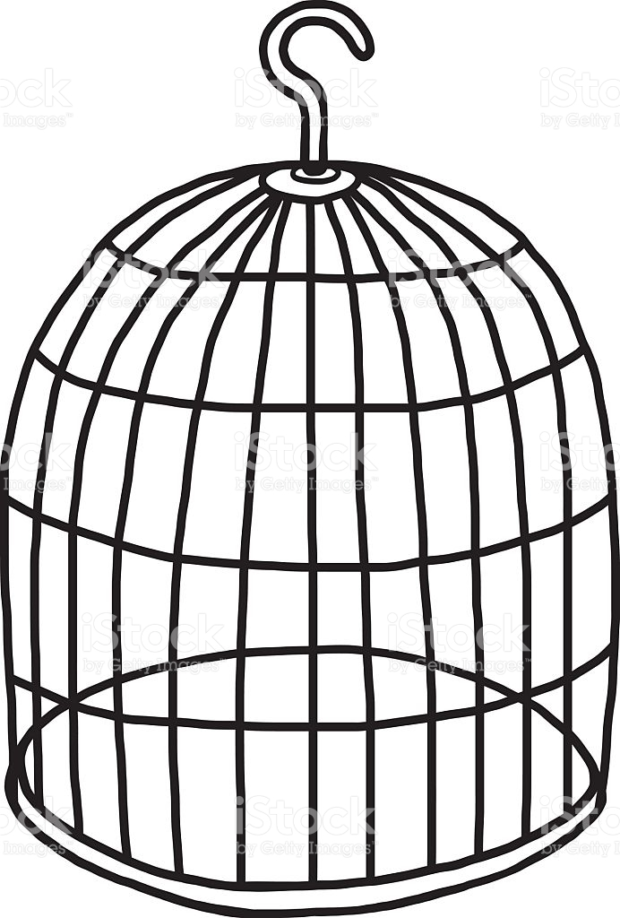 692x1024 Clipart White Bird Cage Birdcage Silhouette Pencil And In Color