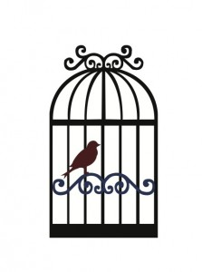 223x300 Free Svg File Download Bird And Birdcage Silhouettes
