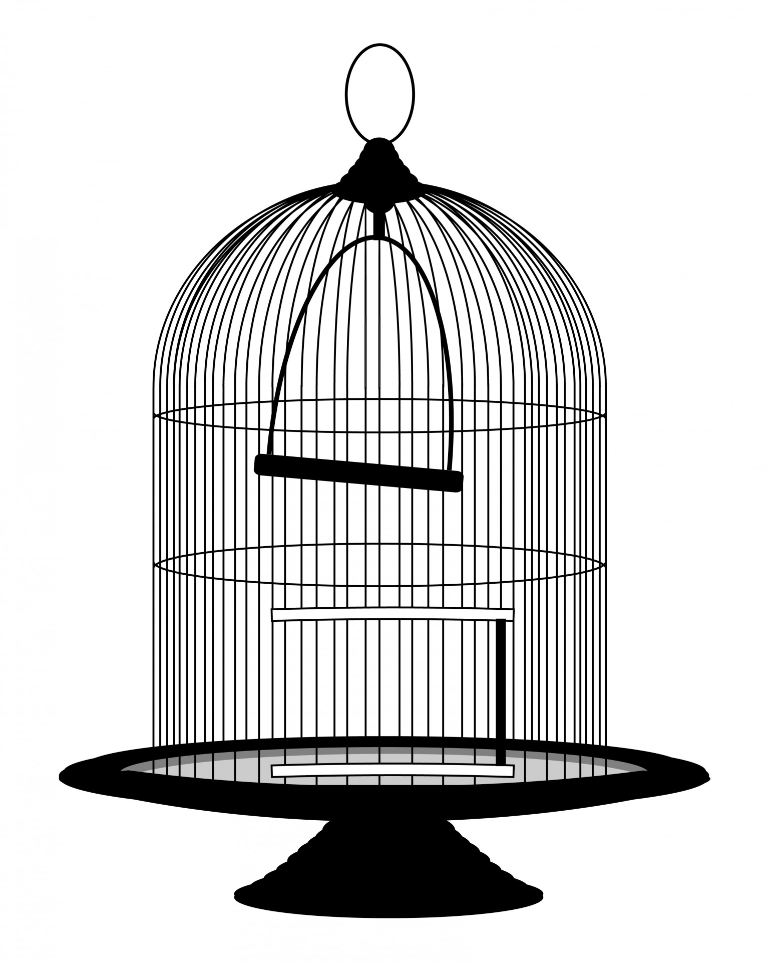 1536x1920 Bird Cage Silhouette
