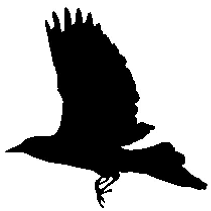 419x418 Items Similar To Flying Black Bird Silhouette Cross Stitch Pattern