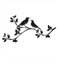 225x225 Birds On A Branch Silhouette Stencil 8 X 12 For Painting Signs