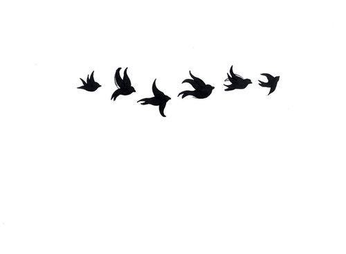500x367 Appealing Flying Bird Silhouette Tattoo Ideas