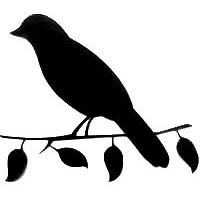 200x200 Bird On Branch Silhouette Die Cut