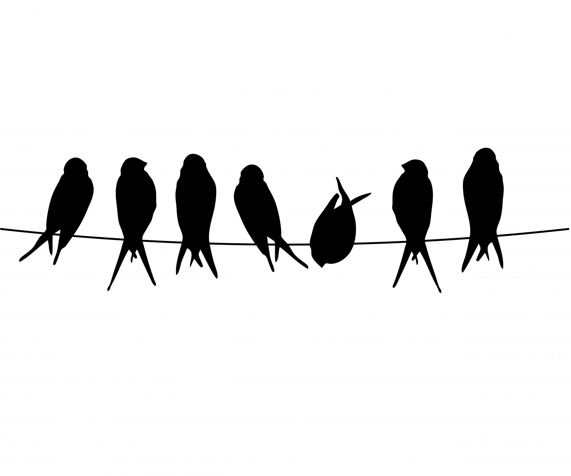 1920x1599 Bird On A Wire Clipart