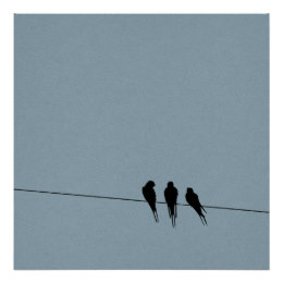 260x260 Black Bird Silhouette Posters Amp Prints Zazzle Uk