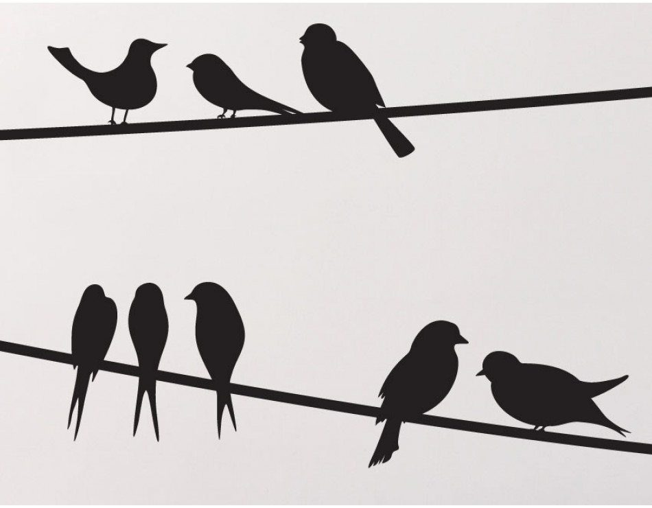 950x740 Extremely Bird On A Wire Stencil Clipart Pencil And In Color