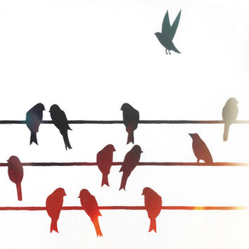 Bird On A Wire Silhouette at GetDrawings.com | Free for personal use ...