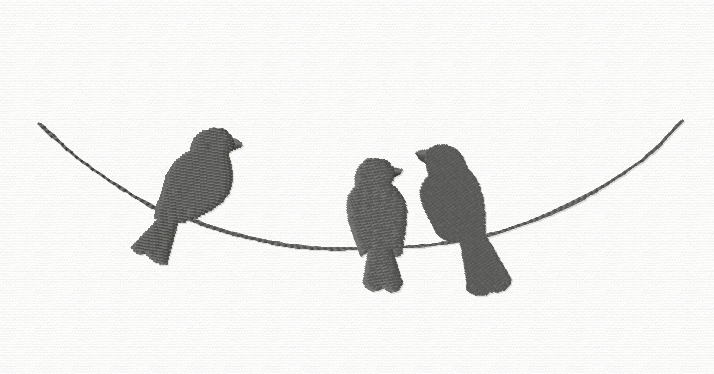 714x374 Bird on a wire silhouette Silhouette Of Birds On A Telephone