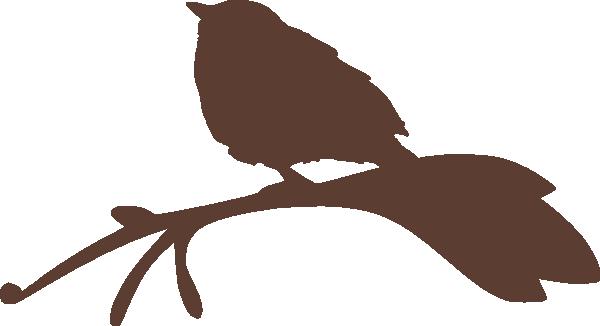 600x326 Bird On A Branch Silhouette Clip Art