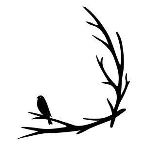 300x300 Bird Branch Corner Bird Branch, Silhouette Design And Silhouettes