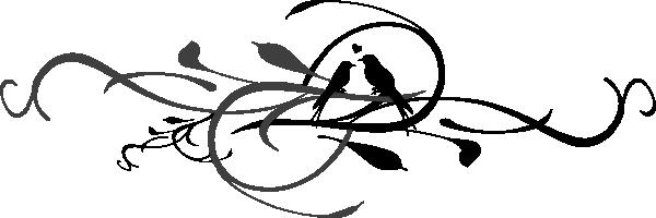 600x200 Love Bird Silhouette Clipart