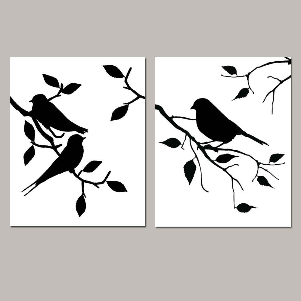 1000x1000 Modern Bird On Branch Silhouette Wallpapers Background