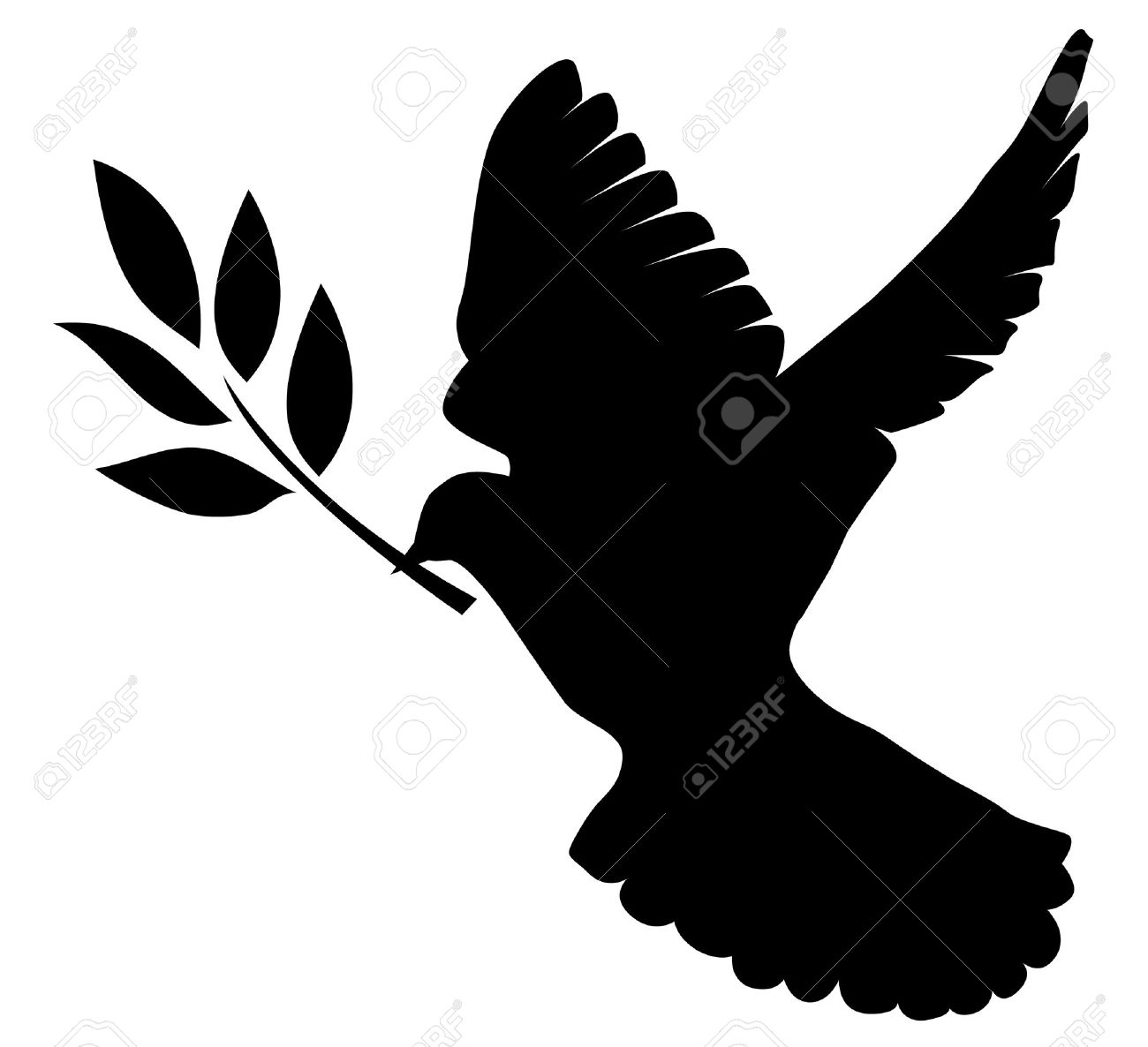 1300x1186 Dove Silhouette With Cross
