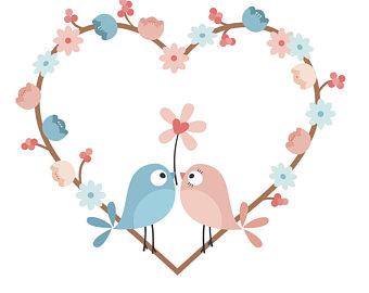 340x270 Love Bird Silhouette Etsy
