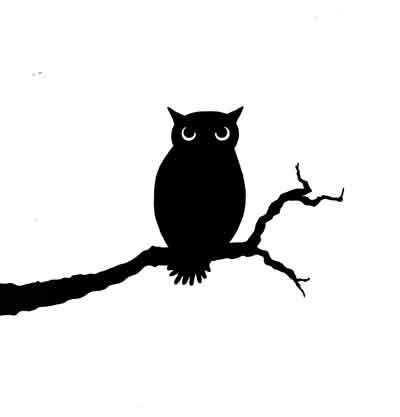 400x417 Owl Small.jpg Lavinia Owl, Wooden Spoon And Silhouette