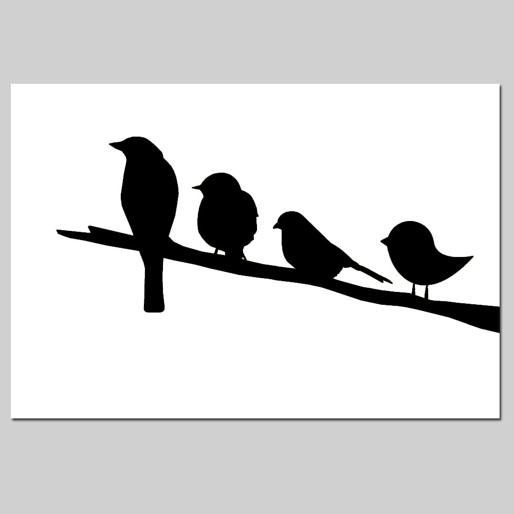 1000x1000 Birds On A Branch Nursery Decor
