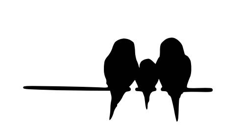 496x283 Pack Of 3 Birds On Wire 3 Birds Stencils Made From 4 Ply Mat Board