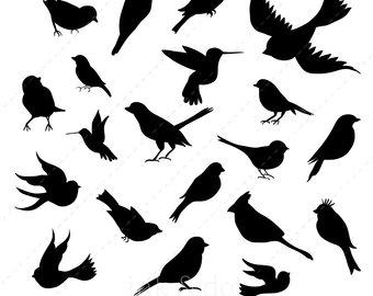340x270 Birds Silhouette Etsy