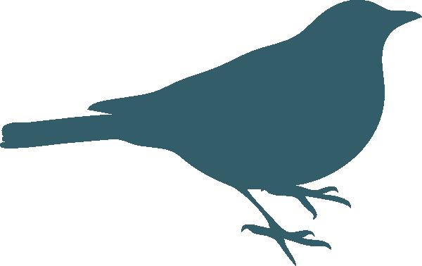600x378 Teal Bird Silhouette Clip Art
