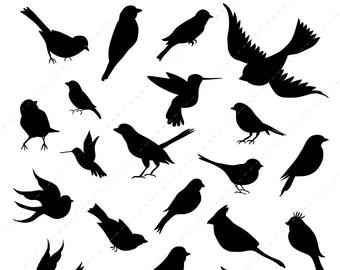 340x270 Bird Silhouettes Clipart, Bird Clipart, Animal Silhouettes Clip