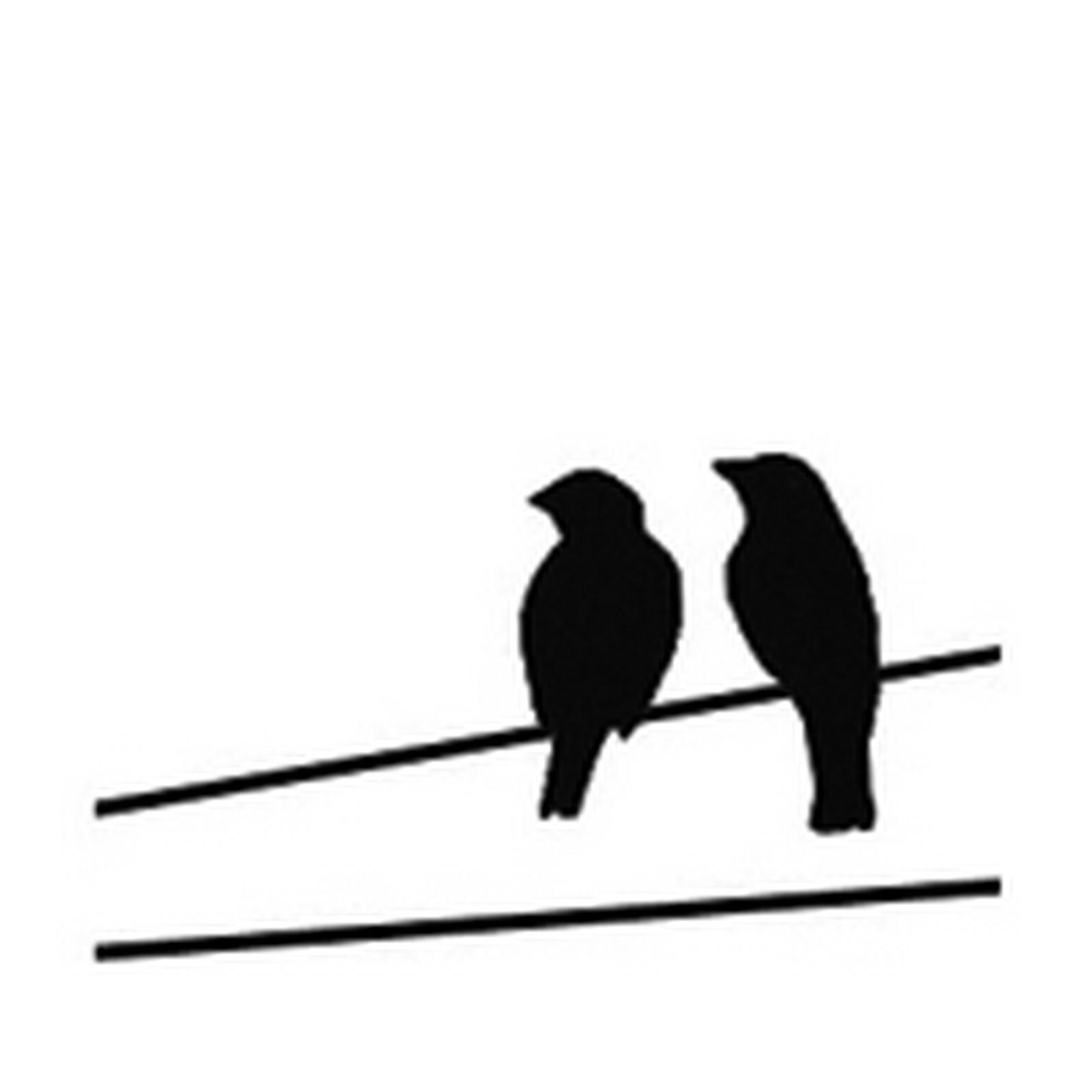1600x1600 Fusing Decal 1.5x1.25 Black Birds On A Wire Animals 1 12 X