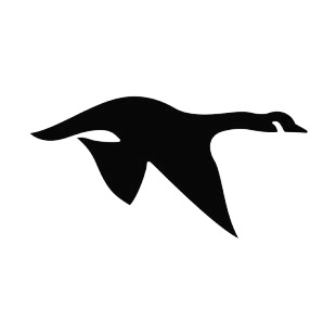 310x310 Geese Flying Silhouette Birds Decals, Decal Sticker