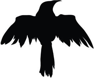 300x251 Raven Silhouette Vinyl Decal Sticker Raven Crow Birds Ebay