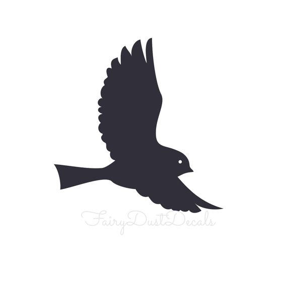 570x559 Bird Wall Decal Flying Bird Decal For Walls Vinyl Wall