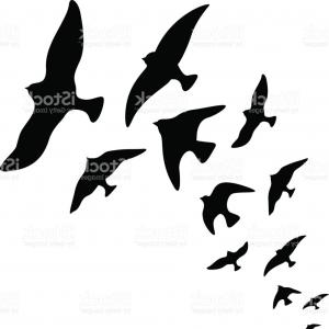 300x300 Watercolor Flying Birds Silhouettes Gm Createmepink