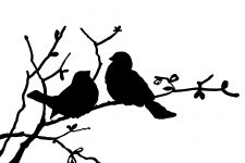 225x150 Bird On Branch Silhouettes ~ Karen's Whimsy