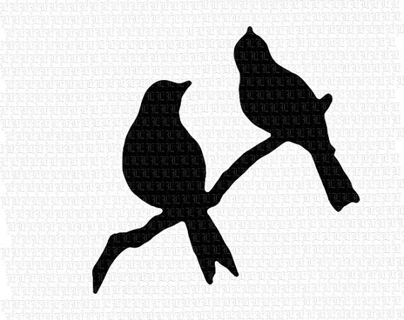 570x452 Perched Birds Branch Silhouette Printable By Luminariumgraphics