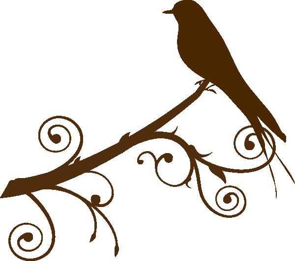 600x532 Bird On A Branch Clip Art